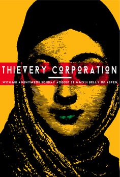 Thievery Corporation. Poster design: Scrojo (2014).