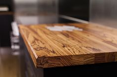Zebrano worktops gallery containing zebrano worktops that Worktop Express has supplied recently. Butcher Block Cutting Board, Bamboo Cutting Board, Kitchen Worktop, Work Tops, Wood Table, Industrial Style, Solid Wood, Worktop Ideas, Kitchens