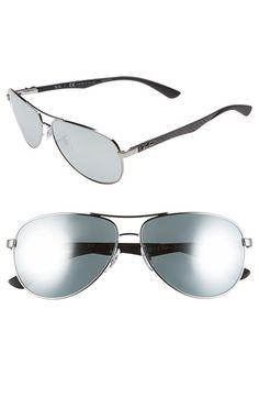 c6ffc2d22c Ray-Ban 61mm Polarized Aviator Sunglasses Ray Ban Polarized
