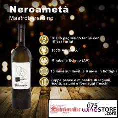 #Neroametà, un #vino bianco prodotto dalle uve nere dell'#aglianico. Fresco, sapido e deciso, con un intenso retrogusto minerale, è una delle etichette Mastroberardino Winery and Vineyards. Siete curiosi di provarlo? Allora cliccate qui: http://www.075winestore.com/vini/neroameta-bianco-campania-mastroberardino.html