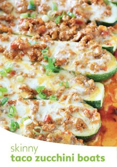 Loaded with cheesy flavor, healthy taco zucchini boats are a family favorite dinner!