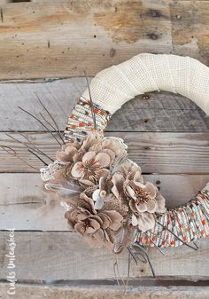 Today, I'm sharing how to use a few fun accessories to create this lovely rustic fall wreath DIY. Keep reading as I show you how to make your own!