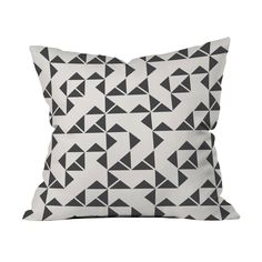 Get lost in the triangular maze that makes up the Zig and Zag Pillow. Place a few of these on your sofa and watch as your living room comes to life. Choose either pillow with insert or cover only.  Find the Zig and Zag Pillow, as seen in the Lumosity's Modern Industrial Dream Office Collection at http://dotandbo.com/collections/lumositys-modern-industrial-dream-office?utm_source=pinterest&utm_medium=organic&db_sku=89532