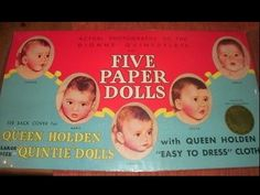 """Paper Dolls """"The Dionne Quintuplets"""" Design by Queen Holden 1990"""