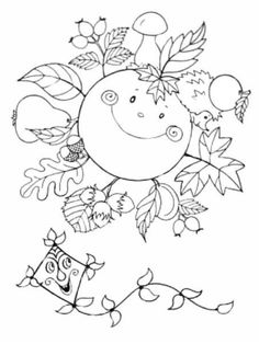 Autumn Activities For Kids, Fall Crafts For Kids, Art For Kids, Diy And Crafts, Easter Colouring, Coloring Pages For Kids, Coloring Books, Autumn Crafts, Autumn Art