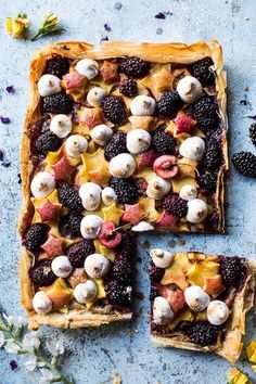 Honey Butter Stone Fruit and Blackberry Meringue Tart - festive, delicious, and quite easy, pretty much all you could ask for, from http://halfbakedharvest.com