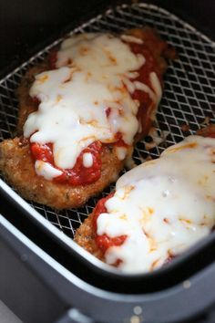 Chicken Parmesan comes out great in the Air Fryer, no need to use so much oil! I've been using my air fryer (affiliate link) all week and having fun! This past weekend we made Chicken Parmesan for dinner, and since it was only three of us eating, I used the air fryer. The results were great, no complaints from my husband so that means he approved! I basically followed the same recipe but made half, and added the sauce and cheese the last three minutes of cook time. The downside to…