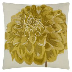 Buy Maggie Levien for John Lewis Adela Dahlia Cushion Online at johnlewis.com Cushions Online, John Lewis, Textiles, Fireplaces, Carousel, Dahlia, Stuff To Buy, Room, Accessories