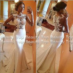 Lace Wedding Dress Mermaid Wedding Dresses Lace by BeautyTop, $179.00