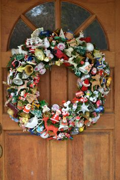 Large Christmas Wreath made with all Vintage by ShesCrafty121, $350.00. WOW!!!!