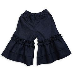 Swoon! Love this Dark Denim Lolly Double Ruffle Capri I discovered at lollywollydoodle.com and for only $29! Click the image above and receive $5 off on your next order!