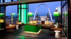 For view of Busch Stadium, head to this rooftop bar at the Hilton St. Louis Ballpark. Panoramic views of the Gateway Arch serve backdrop for bites such as house-smoked salmon chips, mini New England lobster rolls and Korean BBQ pork tacos. Save room for sweet stuff; especially the house-made Kit KatThe 6,000-square-foot indoor and outdoor space accommodates cozy fire pits, flat-screen TVs making Three Sixty a year-round destination.Cardinals fans, hold on to your ticket stub to skip the $10…