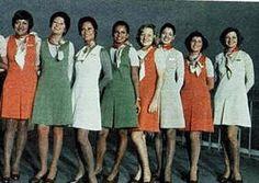 ::: | VARIG | ::: História Uniforme das comissárias - década de 70 / Primeira Classe do Douglas DC-10-30 da VARIG.