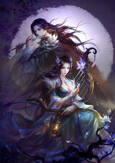 Valentine's Day of China 七夕, Su Fu Fantasy Couples, Fantasy Girl, Fantasy Romance, Romance Art, Romance Novels, Fantasy Images, Fantasy Artwork, Akali League Of Legends, Beautiful Fantasy Art