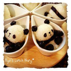 Panda in a cup onigiri