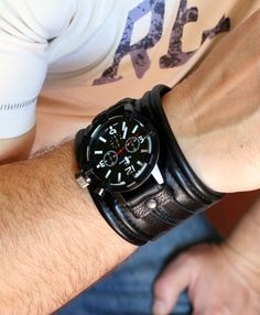 """Mens wrist watch Leather bracelet """"Rover-3""""- SALE - Worldwide Shipping - Steampunk Watches"""