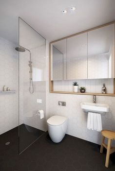 Gorgeous shower room remodel and full change to this desire bathroom! Shower Room Remodelling Concepts: shower room remodel expense, bathroom concepts for small restrooms, small shower room design suggestions. Bathroom Toilets, Laundry In Bathroom, Bathroom Renos, Bathroom Storage, Bathroom Interior, Bathroom Ideas, Bathroom Remodeling, Bathroom Organization, Bathroom Designs