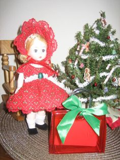 JOLLY-HOLLY Ginny-Doll-dress-CHRISTMAS-for-8-Inch-Wendy-Muffie