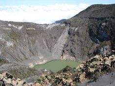Irazu Volcano Cater from above