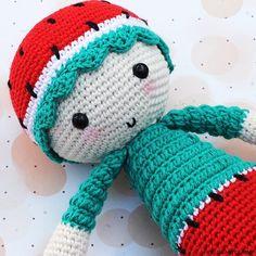 Crochet pattern: Lovely Baby Gummy Watermelon { amigurumi amigurumipattern amigurumimagazine amigurumidoll crochet crochetfruit ganchillo crochetpattern kawaii }