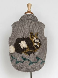 Fuller wouldn't this be adorable for Cassie? Outerwear Jackets, Hand Knitting, Kids Outfits, Rabbit, Kids Fashion, Vest, Pure Products, Wool, Christmas Ornaments