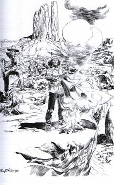 Artwork of Tex by Filippucci Filippucci is one of the great artist in Tex's History A few of his artworks for you. Artist Filippucci Working on Tex for a fan. Pencil Sketch Tutorial, Sketches Tutorial, Cowboy Pictures, Cowboy Pics, Native American Images, Indian Paintings, Western Art, Animal Drawings, Great Artists
