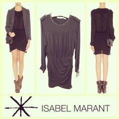 Isabel Marant $365 'Laloo' ethereal drapey black dropped-waist dress sz.XS; RR Price: $165 www.resalerichesnyc.com