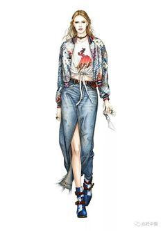马克笔时装 彩铅 水粉 时尚秀场 服装设计 时装画