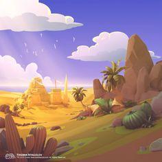 Desert from Bubble NOVA Game, Tihomir Nyagolov on ArtStation at https://www.artstation.com/artwork/rz0KO