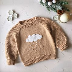 Knitting Baby Outfits Kids 33 New Ideas Girls Sweaters, Baby Sweaters, Sweaters For Women, Knitting Patterns Boys, Knitting For Kids, Embroidery Shop, Embroidery Fashion, Embroidery Designs, Sweater Embroidery