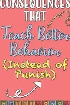 Consequences That Teach Better Behavior (Instead of Punish) - HeidiSongs Classroom Management, Behavior, Teaching, Education, Behance, Learning, Educational Illustrations, Teaching Manners, Studying