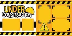 """Under Construction"" Scrapbook Page Kit Scrapbook Concierge Scrapbook Frames, Baby Boy Scrapbook, Disney Scrapbook Pages, Birthday Scrapbook, Scrapbook Page Layouts, Scrapbook Cards, Construction Birthday, Creative Memories, Coupon"