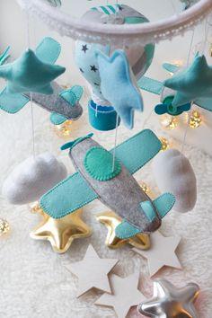 Avión bebé móvil cielo vivero decoración avión móvil