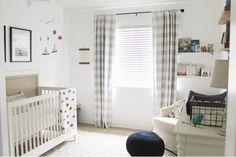 67 ideas for farmhouse nursery curtains Buffalo Plaid Curtains, Gingham Curtains, Buffalo Check Curtains, No Sew Curtains, Cool Curtains, Rod Pocket Curtains, Panel Curtains, Curtain Panels, Short Curtains
