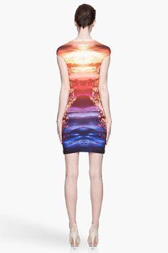 MCQ ALEXANDER MCQUEEN Orange graphic stretch dress