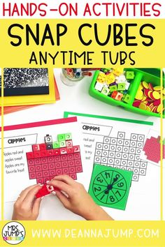 Looking for some kindergarten centers ideas that you can use this fall? These fun kindergarten snap cube activities are a great option for early math centers, as students build Fall shapes and practice kinder counting.