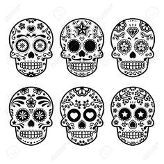 Image from http://colorasketch.com/wp-content/uploads/2015/08/27314348-Mexican-sugar-skull-Dia-de-los-Muertos-icons-set-Stock-Vector-halloween.jpg.