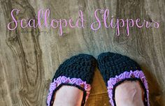 Ravelry: Scalloped Slippers pattern by Caitlin Walker