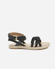 Camila Rope Sandal - Black