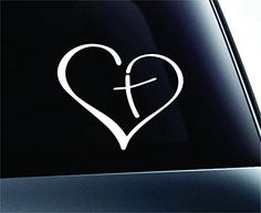 Heart with Cross Bible Christian Symbol Decal Funny Car Truck Sticker Window (White), http://www.amazon.com/dp/B00RLY4C2A/ref=cm_sw_r_pi_awdm_mGfTvb1305RAK