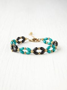 Very simple idea, and pretty.  Free People Beaded Ankle Bracelet