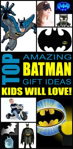 Batman gift ideas! Find fun batman gifts for boys and girls. This is the ultimate batman gift guide that kids, teens, tweens, friends and adults will love. You can always DIY your gifts but shopping for batman products whether lego, superhero capes or another batman item is so cool. Get awesome birthday gifts or Christmas gifts for the batman lover in your life.