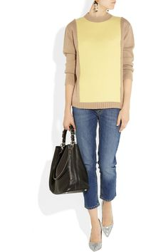 Marni Paneled wool-blend sweater - 50% Off Now at THE OUTNET