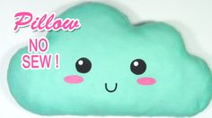DIY crafts: Cloud pillow, no sew! - Innova Crafts How to make a cloud pillow. It's very easy! ✂ MATERIALS: - Felt - Hot glue or similar - Marker - Scissors S...