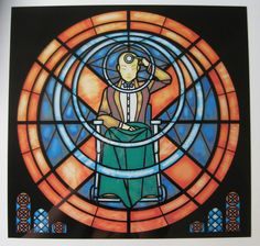 Stained Glass Original X-men Rose Window Print