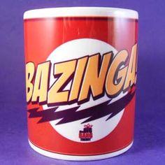 The Big Band Theory Bazinga! mug. I need this.