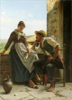 LUIGI BECCHI (italian, 1830-1919)-The apple of his eye_730x1024