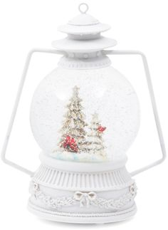 LED Musical Cardinal Snow Globe