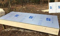 Building a solar lumber kiln - Pat's Home DIY Solar Kiln, Wood Mill, Insulation Board, Board And Batten Siding, Floor Framing, Roof Panels, Kiln Dried Wood, Woodworking Workshop, Plastic Sheets
