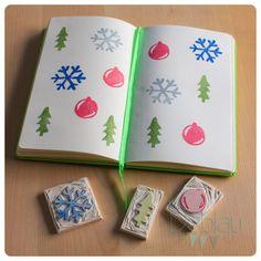 Carvado de sellos de Navidad